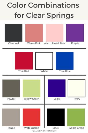 Color Combinations for Clear Springs
