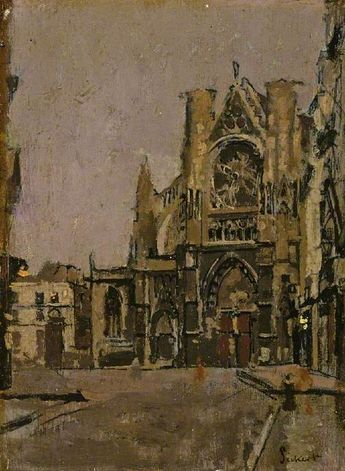 Walter Sickert - Church of St Jacques, Dieppe