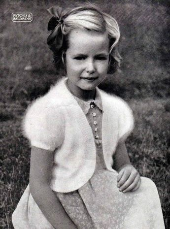 I think every little girl had a bunny wool bolero. It was an early form of today's angora - but it really did get up your nose back then.