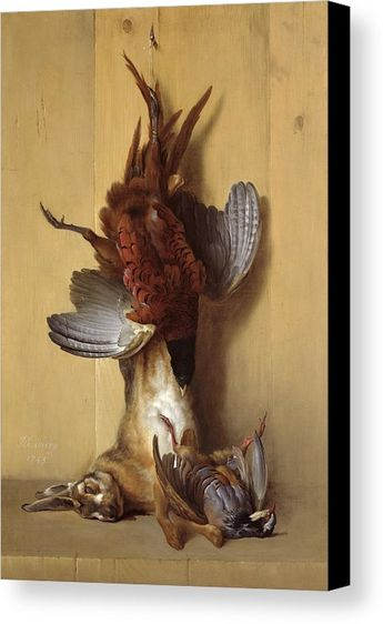 Still Life With A Hare, A Pheasant And A Red Partridge Canvas Print / Canvas Art by Jean-Baptiste Oudry