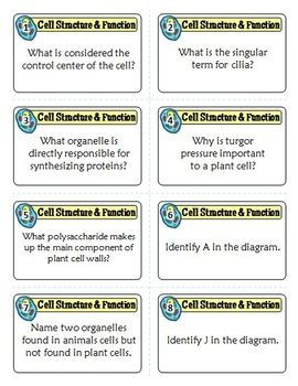 Cells Task Cards with Game Board {80 Cards with Editable Te