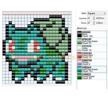 Pokemon 043 Oddish free pixel art pony beads Hama Beads pat