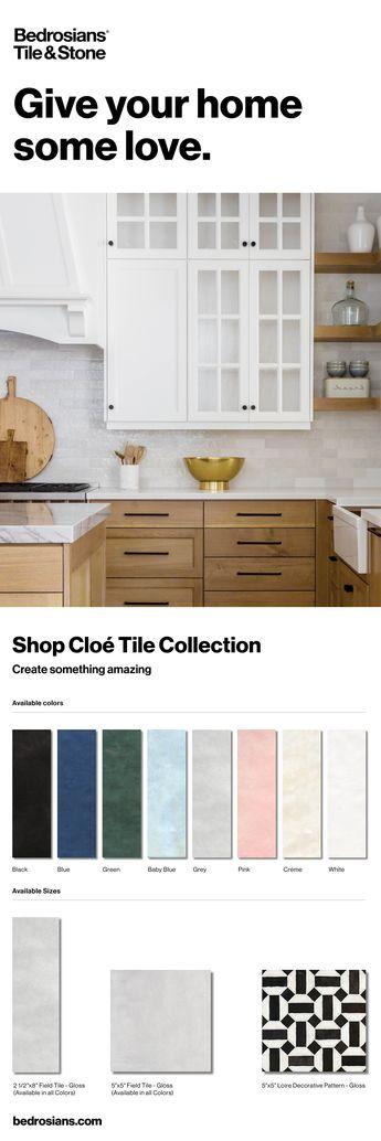 "Cloe 2.5"" x 8"" Wall Tile in White"