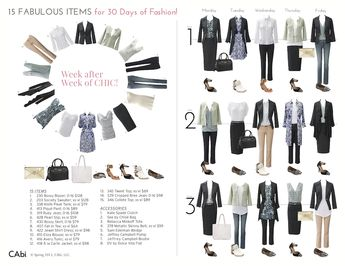 15 Fabulous CAbi Items Create 30 Days of Fashion! by Laura Brown
