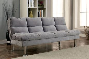 Furniture Of America Saratoga Gray Futon Sofa