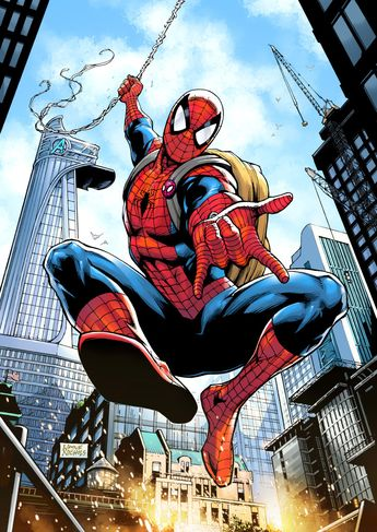 Spider-Man Loves NYC! artwork by Wayne Nichols (2017)