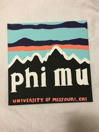 Phi mu sorority Patagonia painting canvas college