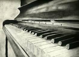 amazing piano pencil drawing