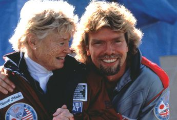 Branson with his beloved mother, Eve.