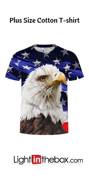 Men's Plus Size Cotton T-shirt