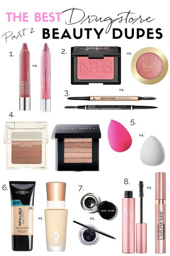 THE TOP DRUGSTORE MAKEUP DUPES