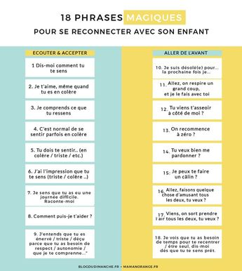 18 magic phrases to reconnect with your child