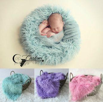 100x150cm Mongolian Faux Fur Wool Blanket Newborn Baby Photography Background Backdrops Photo Props Rug Long Hair Beach