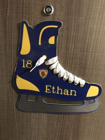 Hockey Skate Tournament Door Sign