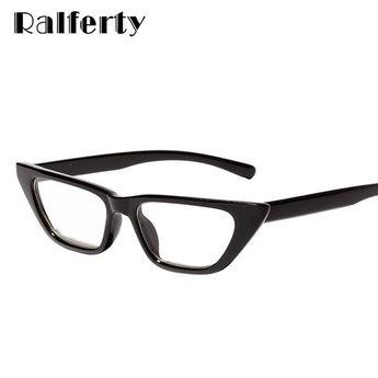 fd78e355144 Ralferty Cat Eye Glasses Women S Small Eyeglasses Retro Vintage Black  Spectacles W81301