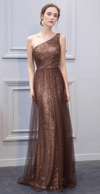 1c5db42d8da6 Unique Mermaid Prom Dress, One Shoulder Tulle Sequin Evening Dress