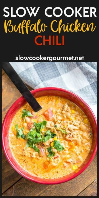 Slow Cooker Buffalo Chicken Chili is delicious, simple and award winning! This is the go-to when you are tired of boring chili recipes!