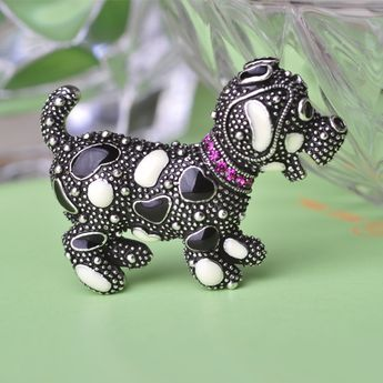 Cute Exquisite Enamel Little Dog Brooches