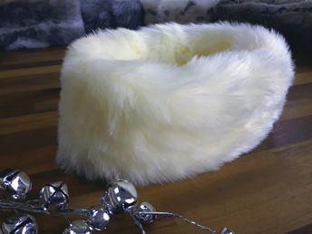 7357596c93a Mummy   Me Cream Faux Fur Headband