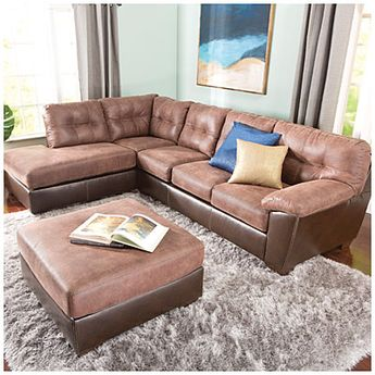 Simmons Bebop 2 Piece Chocolate Sectional This Color And