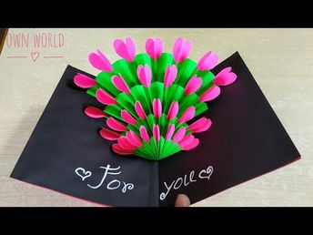 Easy ! Beautiful Handmade Valentine's Day card idea | DIY Greeting Cards for Valentine's day - YouTube