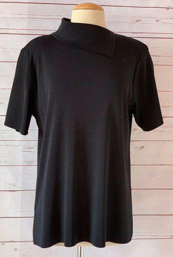 BCBG Generation Black Cold Shoulder Sweater Dress Ruffle Sleeve Stretch NWT$88