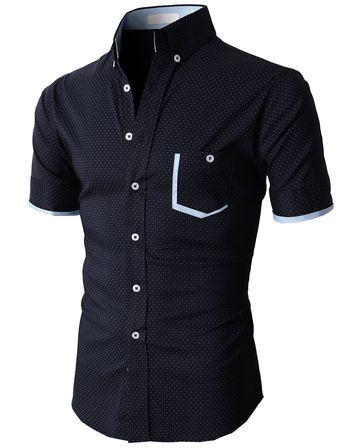 Doublju Casual Button-down Shirts Short Sleeve (KMTSTS026) #doublju