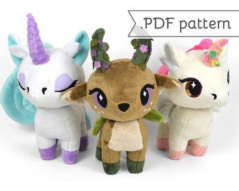 cdc1af5a7142b PDF sewing pattern bundle - Giraffe and My Little Pony Uni