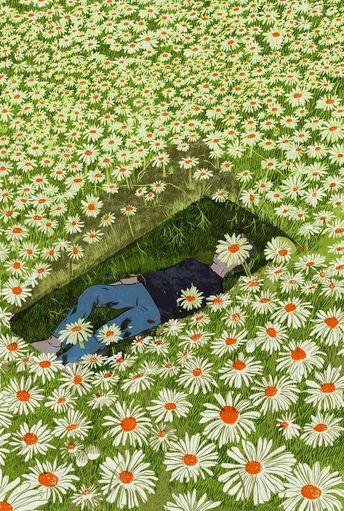 Pushing Up Daisies, an art print by Lily Padula