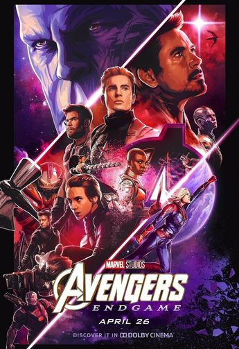 """Details about Avengers Endgame Poster 48x32"""" 40x27"""" Movie 2019 MCU End Game Dolby Print Silk"""