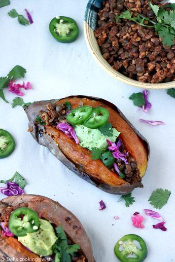 Patates douces farcies façon tacos (vegan, sans gluten)
