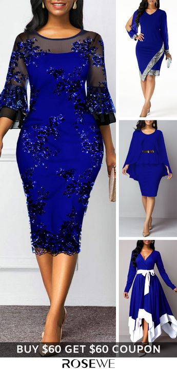 Party Pretty Sheath Dress For Women 2019. FREE SHIPPING OVER $20 & 30 DAYS EASY RETURNS. Save $8 when you spend $80 and get a free gift at Rosewe.com.#rosewe#dress#sheathdress#women'sdress#bluedress#wintercausal#winterdress#shop
