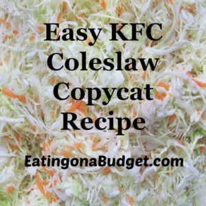This easy #kfccoleslawdressingrecipe tastes just like the real thing and can be made without buttermilk.