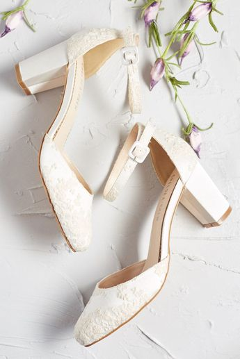 Ethereal Stride Embroidered Bridal Heel