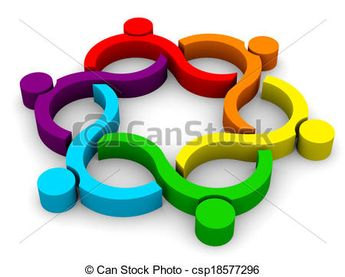 Stock Illustration - 3D Abstract Teamwork Wave Group - 6 - stock illustration, royalty free illustrations, stock clip art icon, stock clipart icons, logo, line art, pictures, graphic, graphics, drawing, drawings, artwork