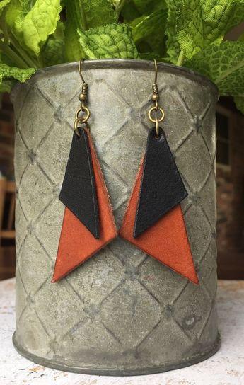 Leather Dangle Earrings/Joanna Gaines Earrings/Leather Drop Earrings/Leather Earrings