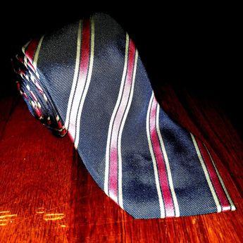 3e9ea5388959 Banana Republic Designer Blue Pink Striped RARE 100% All Silk Men's Necktie  Tie #fashion