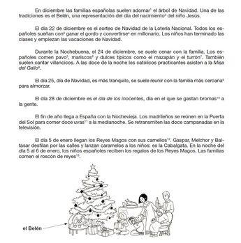 CE Texto -Felices fiestas- (4ème ou 3ème faible)