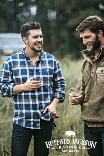 Men's long sleeve, plaid, button up, flannel shirt. No rules on how to wear it. We go for casual style so we outfit it with jeans and boots. But your shirt, your call. Great gifts for guys | dads | men who have everything. #menswear #mensfashion #giftsforguys #honoryourwild