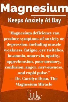 Insuficiencia de Magnesio puede ser la causa