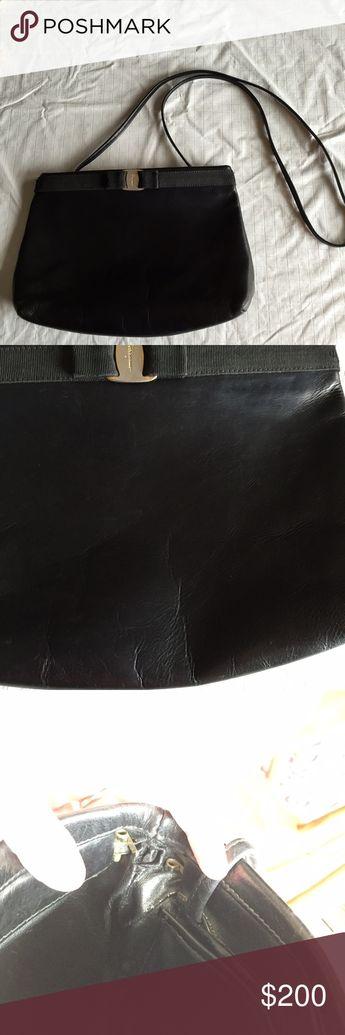 757a8ab9e6f Salvatore Ferragamo vara evening bag black leather Beautiful black leather  bag by Ferragamo with classic vara