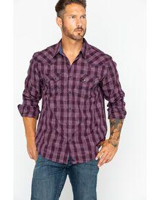 53b6ec93e7 Cody Core Men s Small Plaid Buckshot Button Long Sleeve Shi