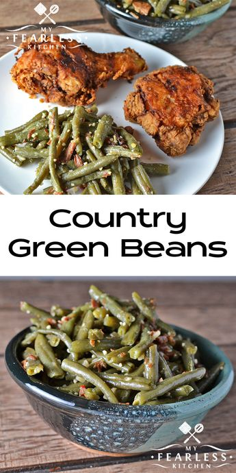 Country Green Beans from My Fearless Kitchen. Are you bored with your regular…