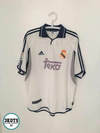 f22a88c07 REAL MADRID 2000 01 Home Football Shirt (L) Soocer Jersey Vintage ADIDAS  Maglia
