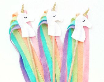 Unicorn Party, Girl Birthday Party Idea, Birthday Wands, Unicorn Party Favor, Princess Party, Woodland Party, Enchanted Birthday, Fairy Wand
