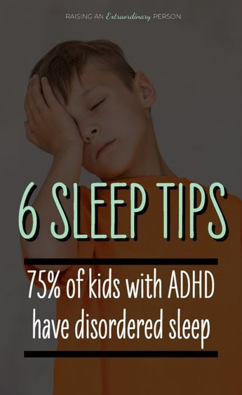 ADHD and Sleep: 6 Tips to Help Your Child Sleep · - ADHD & Autism Resources - 75% of ADHD Kids experience disordered sleep #ADHD #ADHDKids #SleepTips #childdevelopment