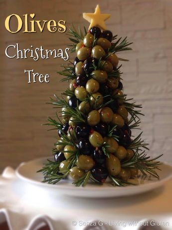 Having some guests over for Christmas for some drinks? This is the perfect thing to serve with Christmas Apetitizers! It would really go well with Cheese and Salami or Meat platters! It might look difficult but it is so easy to make! All you need is a polystyrene cone which you can buy from craft stores! Black & Green pitted olives…