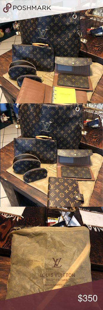 LV purse and wallet,makeup bags and organizer LV purse with 2 small makeup bags  1 large makeup bag with wallet and organizer Louis Vuitton Bags Shoulder Bags