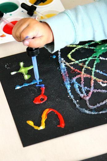 Salt, Sugar, Flour Toddler Science Experiment -