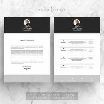 Professional Resume Template Cv Template For Ms Word Cre